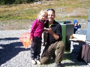 Roar Steen med datter - vinner av årets fiskekonkurranse